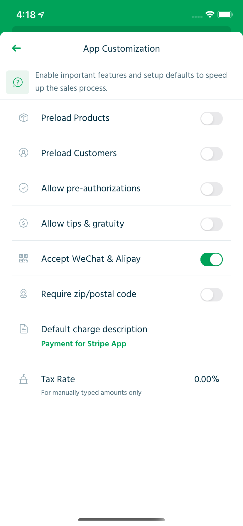 Enable Alipay or Alipay payments